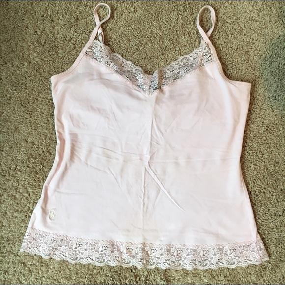 3efe5c30fdd3fb Ralph Lauren Light Pale Pink Lace Camisole. M 595d446a5c12f8e2d701435f