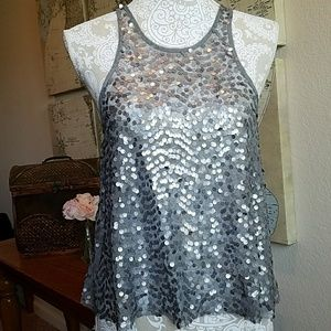 Free People sequined tank top