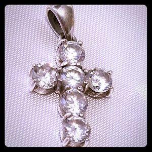 Jewelry - 925 CZ CROSS PENDANT /NECKLACE