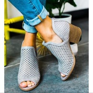Shoes - JUSTINE Booties - GREY