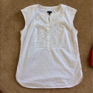 Lace cotton sleeveless shirt