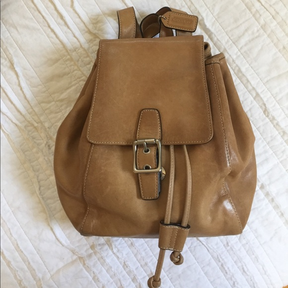 64% off Coach Handbags - Vintage Coach Leather Backpack Style 9569 ...