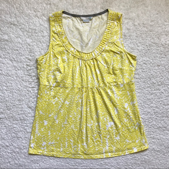 Boden boden tank top yellow and white from mindy 39 s for Boden yellow