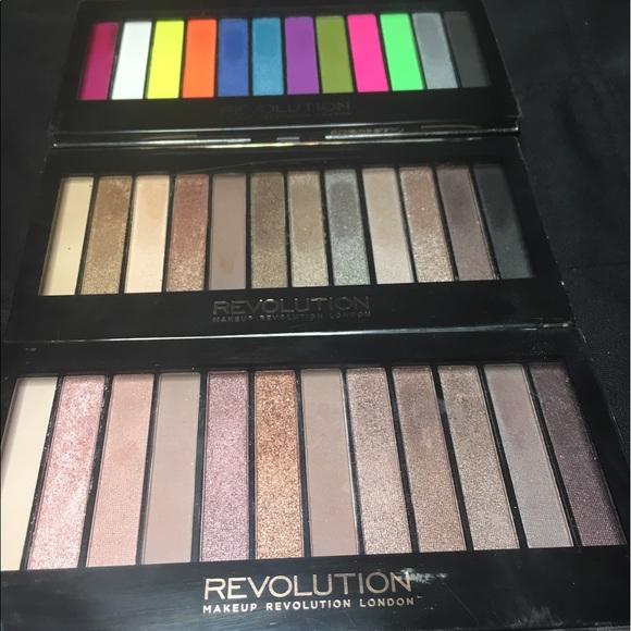 Makeup Recolution Makeup Three Revolution Iconic Palettes Poshmark