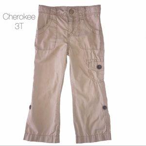 Cherokee Khaki Tan Cargo Pants 3T