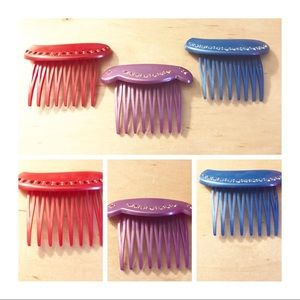 Final! Vintage Hair Combs, Made in France, 1970's