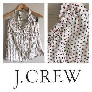 NWT J. Crew Polka Dot Halter Top