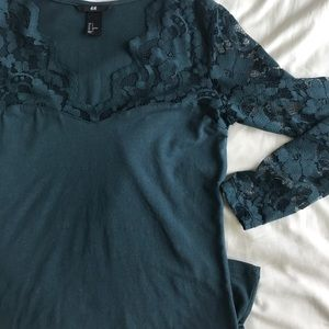 Tops - H&M long sleeve lace shirt