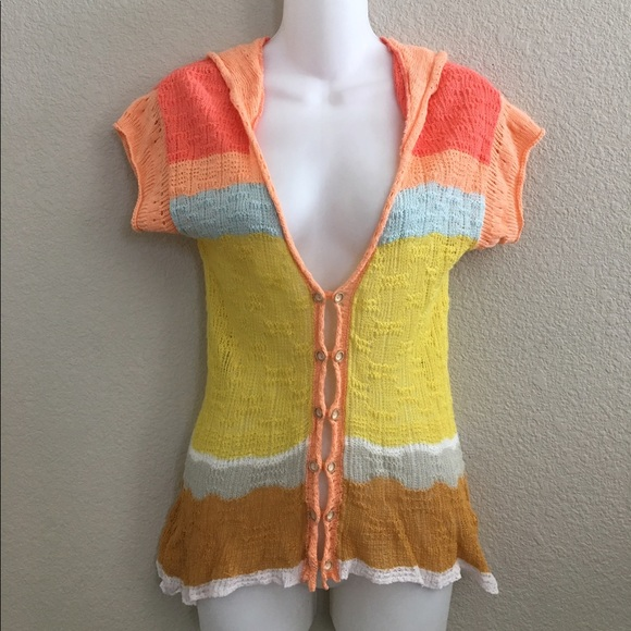 *SOLD* Anthropologie Moth hooded knit cardigan