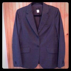 J. Crew gray pinstripe virgin wool blazer size 6