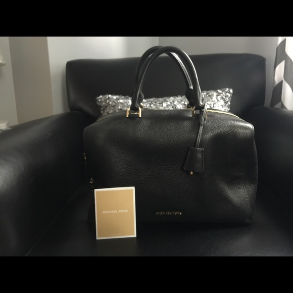 89f444598fcf MK Kirby Large Pebble Leather Black Satchel. M 595d5e7cbcd4a760bb019e54.  Other Bags you may like. NWT Michael Kors Kirby