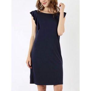 Dresses & Skirts - NAVY Ruffle Sleeve Dress