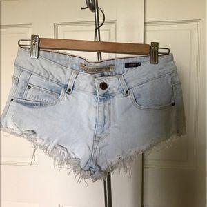 Zara denim short shorts size 4