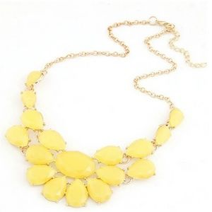Jewelry - Lemon Yellow Statement Fashion Necklace