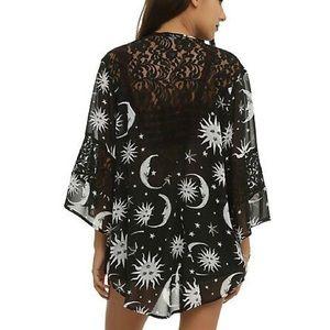 Tops - Sun & Moon Gothic Sheer Kimono