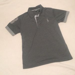 Other - 💜HP💙NWT Large men's grey polo style shirt