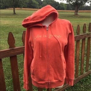Life is Good Hoodie Jacket Size Small