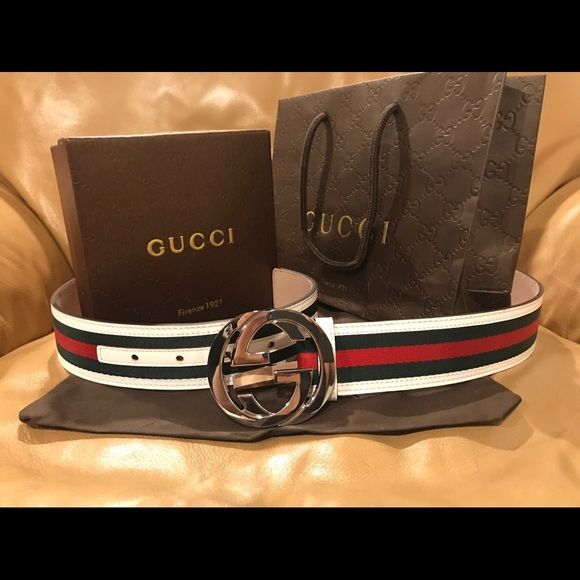 60 off gucci other ��authentic men gucci belt white