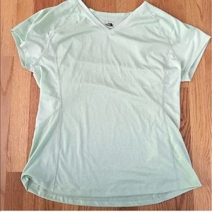 North Face V-Neck Mint Green Tee Shirt XL