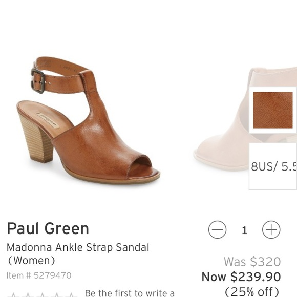 new style f258c e38e6 Paul Green Madonna Ankle Strap Sandal Bootie 8