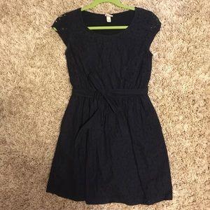 Merona Navy Blue Lace Dress