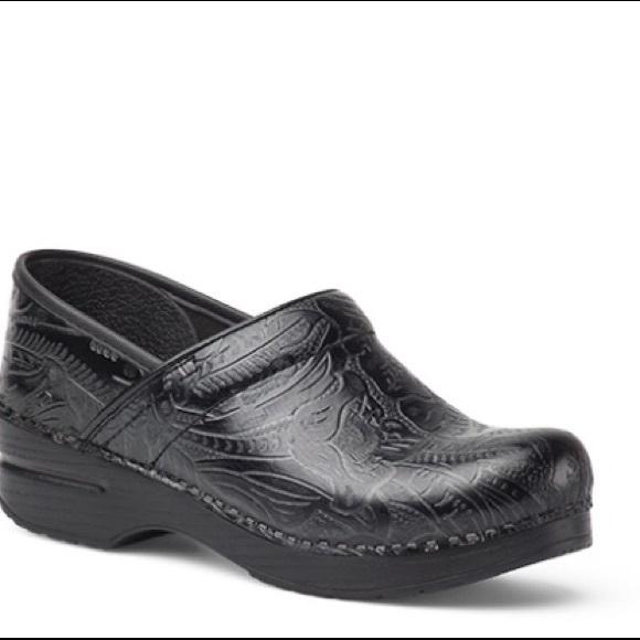 Dansko Shoes Black Tooled