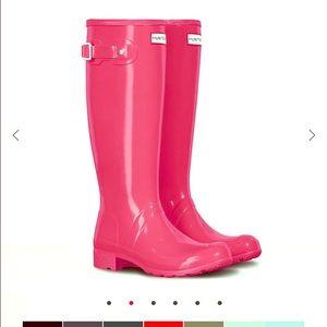 Hunter Rain Boots Hot Pink -Original Gloss -Tall
