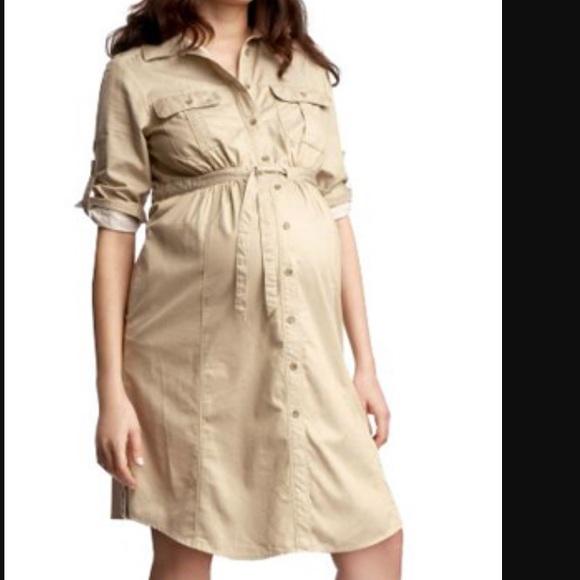 71 Off Gap Dresses Skirts Khaki Gap Maternity Shirt