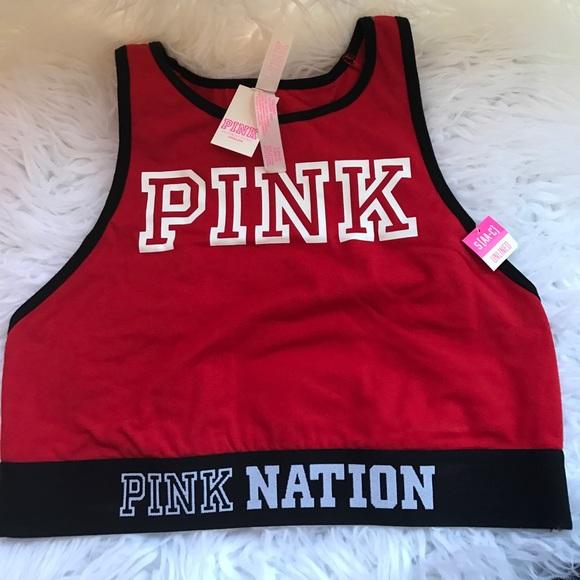 ba0889b2b28fd Victoria s Secret PINK nation red sports bra