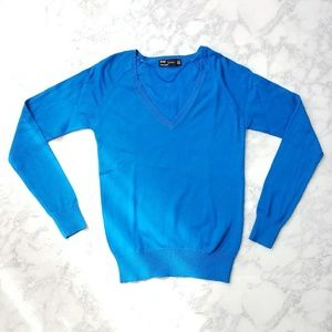 Zara Blue V-neck Sweater