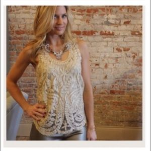 Tops - Reposh - Gold sheer tank