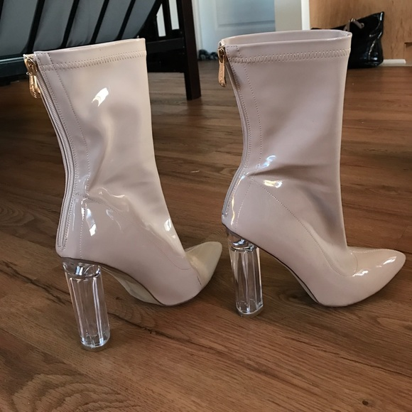 Fashion Nova Shoes - Perspex boot heels!