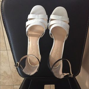 Jessica Simpson Black & White Sandals
