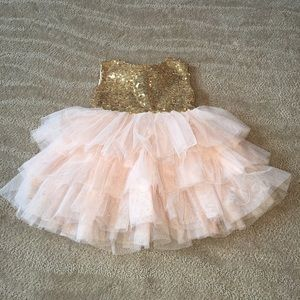 Other - Gold and Blush Boutique Dress