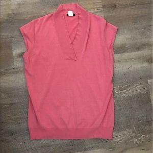 Pink J.Crew Sleeveless Sweater Top