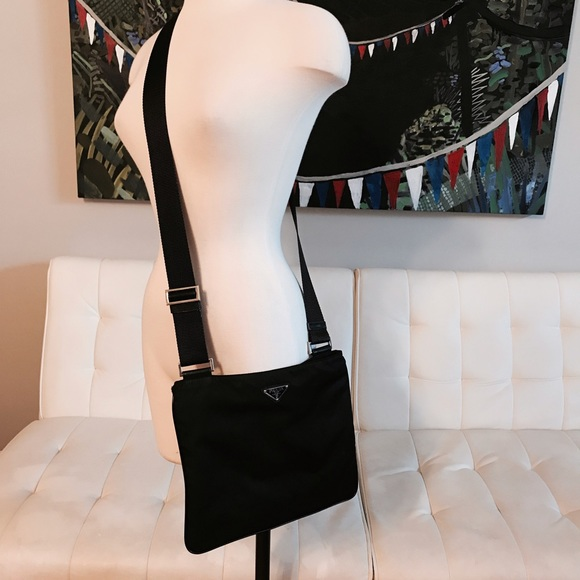 96dfdaf8defda6 Prada Bags   Vela Black Nylon Cross Body Bag   Poshmark