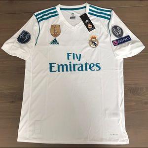 Real Madrid 17/18 James #10 adidas soccer jersey