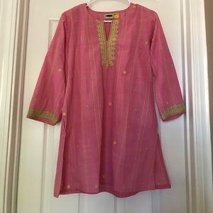 NEW Pink Cotton Kurti (K45)
