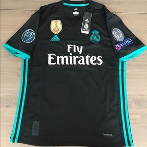 Real Madrid 17/18 black Ronaldo #7 soccer jersey
