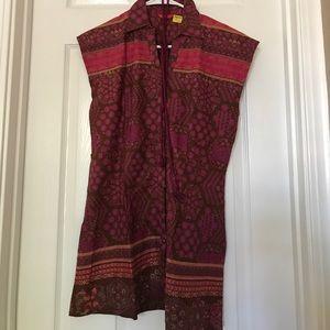 NEW Red Printed Cotton Kurti (K47)