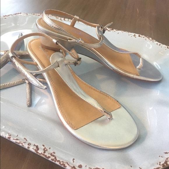 fa51ff4d99 Splendid Shoes | Justin Wedges Silver 8 Sandals | Poshmark