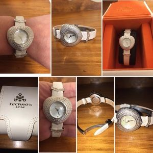 WomensTechno Master JPM Diamond Heart Shape Watch