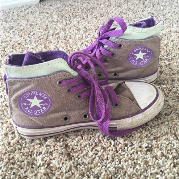converse girls converse high tops with zippers from