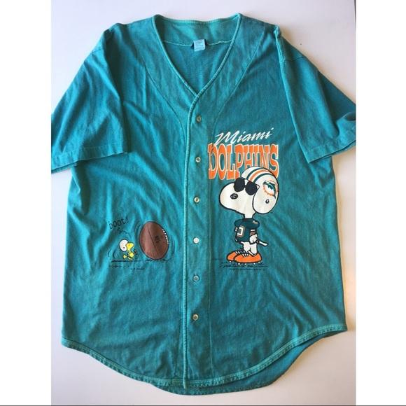 garmentgraphics Other - Vintage Snoopy NFL Dolphins baseball jersey Sz  XL 14f8438ff