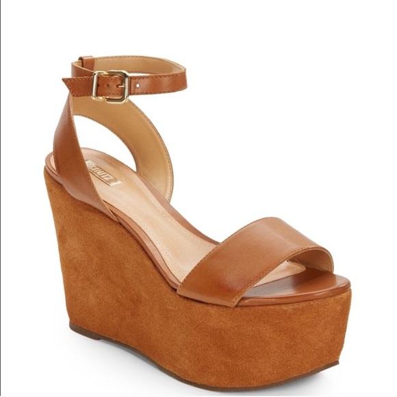 ea595c108b496 SCHUTZ Shoes | Retro 70s Suede Platform 4 Heels In Size 9 | Poshmark