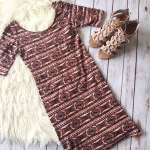 Rue 21 tribal print fitted dress