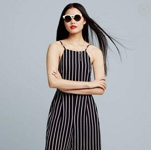 6316e754122 Astr Other - ASTR Black and white striped jumpsuit