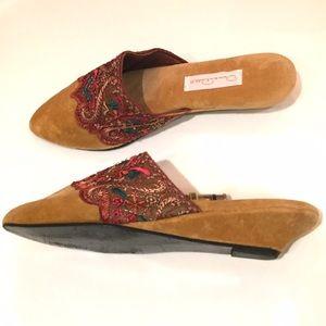 Oscar de la Renta Shoes - Oscar de la Renta velvet slides mules slippers 82cd5fe707