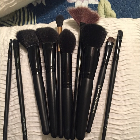 Makeup 11 Used Brushes By Elf And Two No Names Poshmark