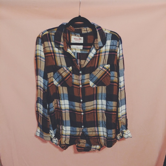 f1ec4ea5 Mossimo Supply Co. Tops | Target Mossimo Boyfriend Fit Flannel Shirt ...